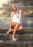 Wonderful blond woman Stock Images
