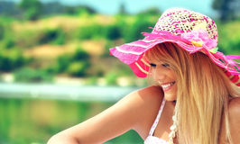 Wonderful blond woman Royalty Free Stock Photos