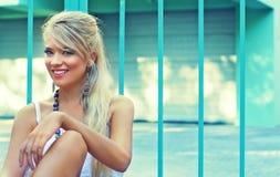 Wonderful blond women. Wonderful blond woman in nature Stock Photography