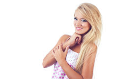 Wonderful blond women. Portrait of wonderful blond women, studio shot Stock Images