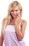 Wonderful blond women Stock Image