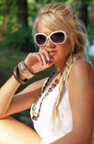 Wonderful blond women. Wonderful blond woman in nature Stock Image
