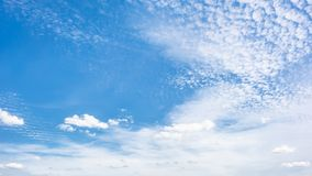 Blue sky with clouds stock image