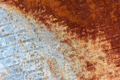 Wonderful brown background of rusty metal plate with corrosion. 2018 stock photo
