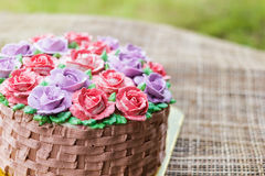 Wonderful cake with happy birthday Royalty Free Stock Photos