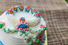 Wonderful cake with happy birthday Royalty Free Stock Image