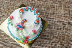 Wonderful cake with happy birthday Stock Image