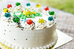 Wonderful cake with happy birthday Royalty Free Stock Images