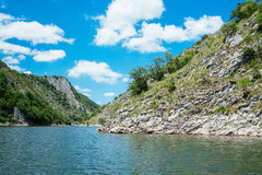 Wonderful canyon with the curving river Royalty Free Stock Photography