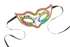 Wonderful Carnival mask isolated on white background. Mardi Gras. Top view Royalty Free Stock Photos