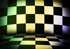 Wonderful chess room. Wonderful dark 3d chess room Royalty Free Stock Images