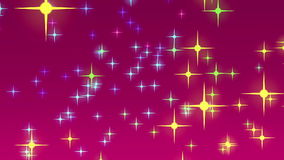 Wonderful christmas animation with moving stars and lights, loop HD 1080p stock video footage