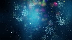 Wonderful christmas animation with snowflakes, loop HD 1080p