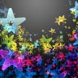 Wonderful Christmas background design. Illustration with stars Stock Image