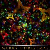 Wonderful Christmas background design. Illustration with stars Stock Images