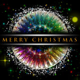 Wonderful Christmas background design royalty free stock photos