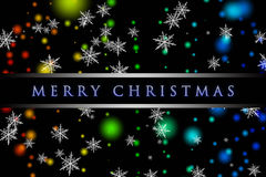 Wonderful Christmas background design. With snowflakes and lights Stock Photography