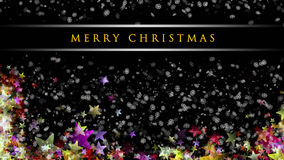 Wonderful Christmas background design. With snowflakes and stars Stock Photo