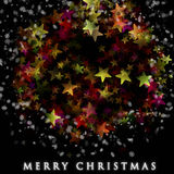 Wonderful Christmas background design. With snowflakes and stars Royalty Free Stock Photography
