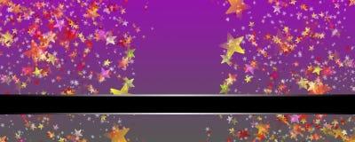 Wonderful Christmas background design with stars and snowflakes. Wonderful Christmas background panorama design with snowflakes and stars Royalty Free Stock Photos