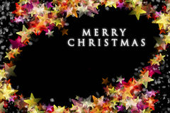 Wonderful Christmas background design with stars and snowflakes Stock Photos