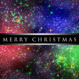 Wonderful Christmas design with stars Stock Image