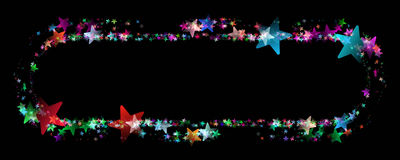 Wonderful Christmas panorama frame background design Royalty Free Stock Images