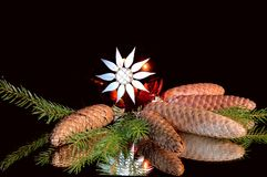 Wonderful christmas still life. Wonderful chrismas still life on a black Royalty Free Stock Photo