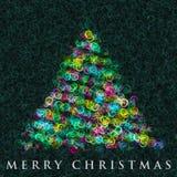 Wonderful Christmas tree design. Illustration Royalty Free Stock Image