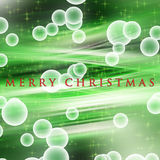 Wonderful Christmas wave design with glowing stars Stock Photography