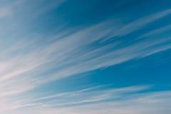 Wonderful cirrus clouds on blue sky Royalty Free Stock Photos