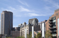 Wonderful city  Boston Buildings. Beautiful downtown of  city Boston , Mass USA Royalty Free Stock Images