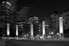 Wonderful city Boston downtown night view Royalty Free Stock Images