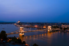 Wonderful city of Budapest picture, bird's-eye. Stock Images
