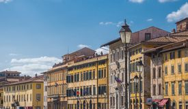 The wonderful city center of Pisa with River Arno - PISA ITALY - SEPTEMBER 13, 2017 Stock Images