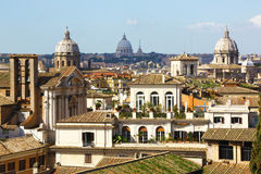 Wonderful cityscape of Rome by day Royalty Free Stock Images