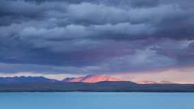 Wonderful clouds over Lake Pukaki, New Zealand Royalty Free Stock Image
