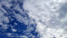 Wonderful cloudscape on bright blue sky stock photos