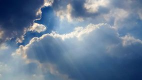 Wonderful cloudscape with rays of sunlight. The wonderful cloudscape with rays of sunlight royalty free stock photo