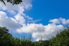 A wonderful cloudy day. A wonderful summer day sky royalty free stock photo