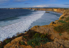 Wonderful coastline at Sagres, Portugal Stock Photos