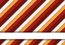Wonderful colorful striped background in warm colors and one tex Stock Photo
