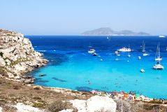 Wonderful colours in Favignana Stock Image