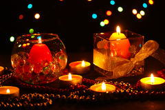 Wonderful composition of candles Stock Image