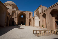 Wonderful courtyard of an old building in the Persian style. Royalty Free Stock Images