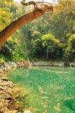 Wonderful crater lagoon in thailand, lom pu keaw lagoon lampang Stock Photo