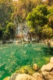 Wonderful crater lagoon in thailand, lom pu keaw lagoon lampang Stock Photography