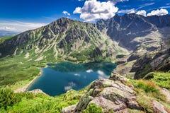 Wonderful Czarny Staw Gasienicowy in summer, Tatras, Poland. Europe Stock Photography