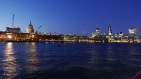 Wonderful day to night Time-Lapse-shot of City of London skyline in 4k stock video