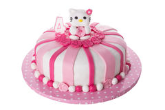 Wonderful decorative cake for children. Stock Images